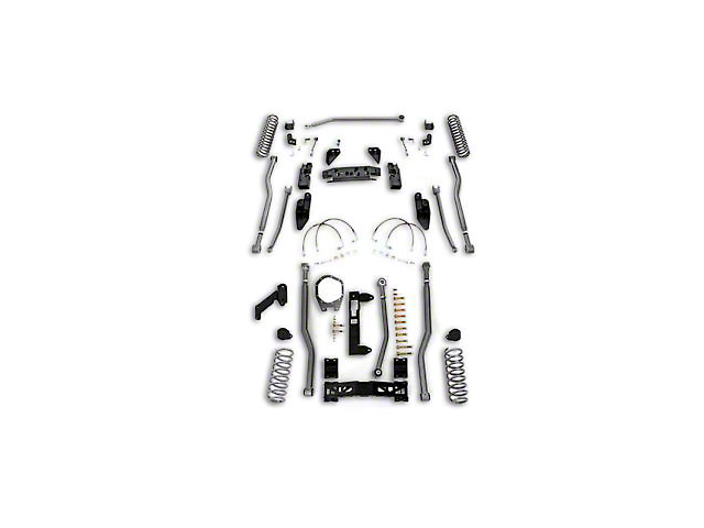 Rubicon Express 3 5 in  Extreme Duty 4-Link Front & 3-Link Rear Long Arm  Suspension Lift Kit (07-18 Jeep Wrangler JK 4 Door)