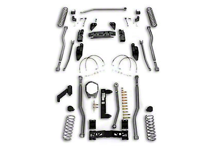 Rubicon Express 3.5 in. Extreme Duty 4-Link Front & 3-Link Rear Long Arm Suspension Lift Kit (07-18 Jeep Wrangler JK 4 Door)