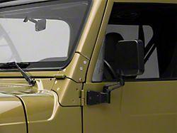 Black Side Mirror - Left & Right Side (97-06 Jeep Wrangler TJ)