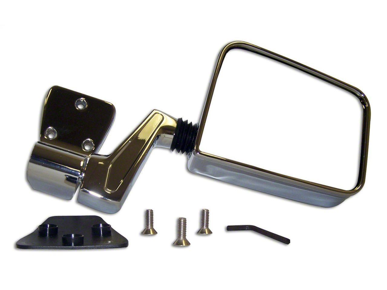 Crown Automotive Chrome Side Mirror - Left & Right Side (97-06 Jeep Wrangler TJ)