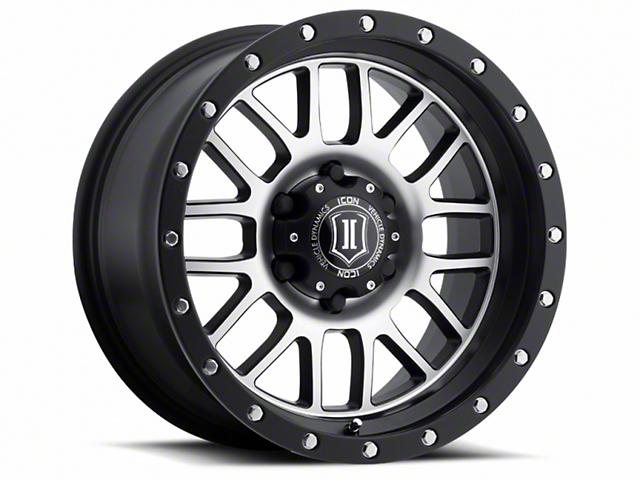 ICON Vehicle Dynamics Alpha Satin Black Machined Wheel; 17x8.5 (18-20 Jeep Wrangler JL)
