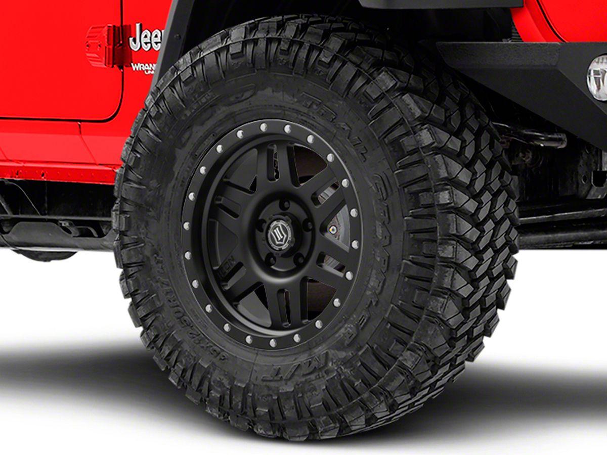 ICON Vehicle Dynamics Six Speed Satin Black Wheel - 17x8 5 (18-20 Jeep  Wrangler JL)