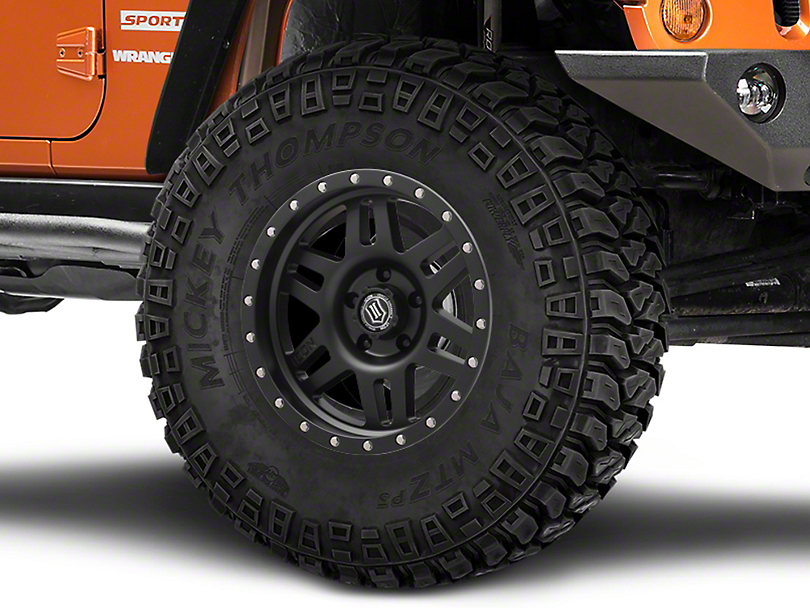 ICON Vehicle Dynamics Six Speed Satin Black Wheel - 17x8.5 (07-18 Jeep Wrangler JK)