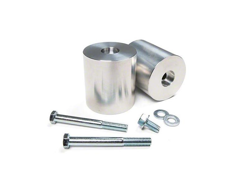 JKS 3 in. Aluminum Front Bump Stop Extension Kit (97-18 Jeep Wrangler TJ & JK)