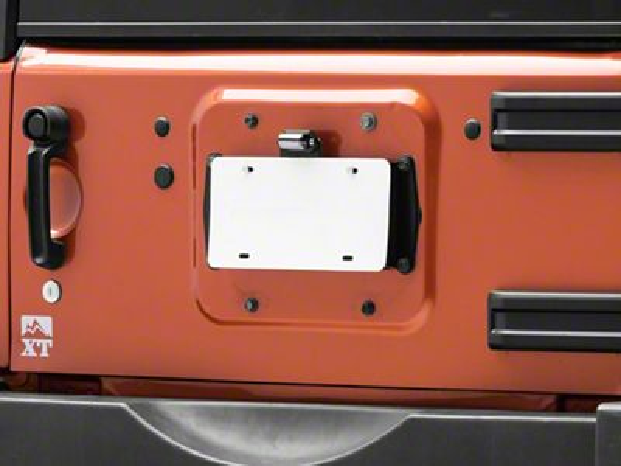 JKS License Plate Relocation Kit w/ Light (07-18 Jeep Wrangler JK)