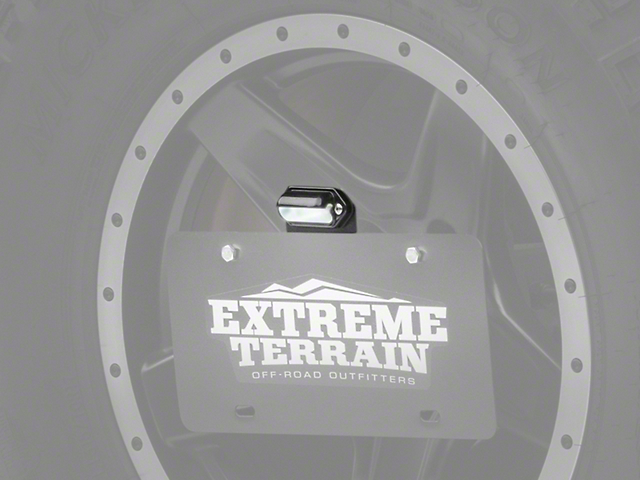 JKS Spare Tire License Plate Mount Kit w/ Light (87-18 Jeep Wrangler YJ, TJ & JK)