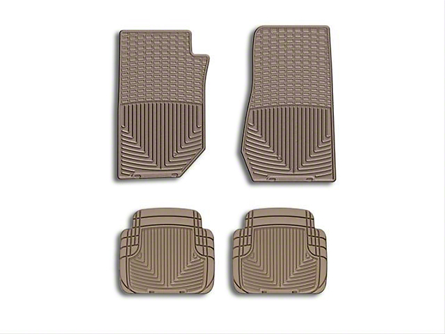 Weathertech All Weather Front Rubber Floor Mats - Tan (07-18 Wrangler JK)