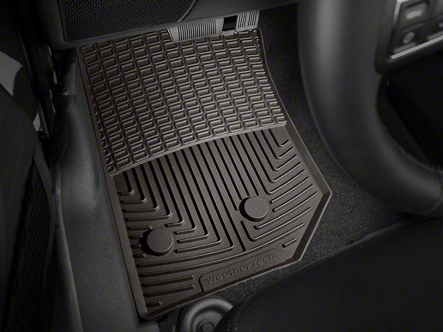 Weathertech All Weather Front Rubber Floor Mats   Cocoa (14 18 Jeep  Wrangler JK)
