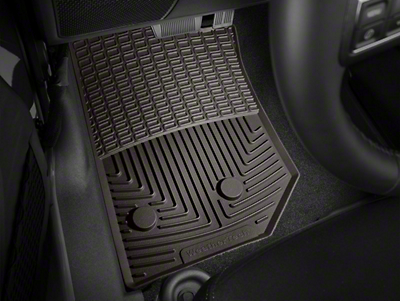Weathertech All Weather Front Rubber Floor Mats - Cocoa (14-18 Wrangler JK)