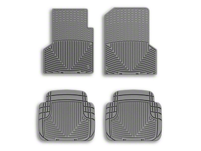 Weathertech All Weather Front Rubber Floor Mats - Gray (97-06 Wrangler TJ)