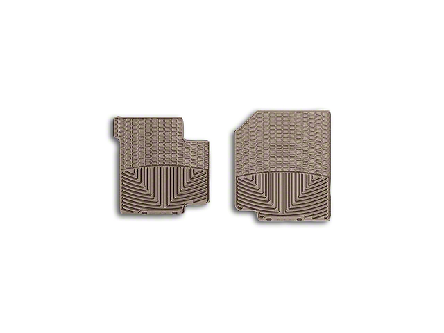Weathertech All-Weather Front Rubber Floor Mats; Tan (87-95 Jeep Wrangler YJ)