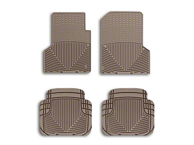 Weathertech All Weather Front Rubber Floor Mats - Tan (97-06 Wrangler TJ)