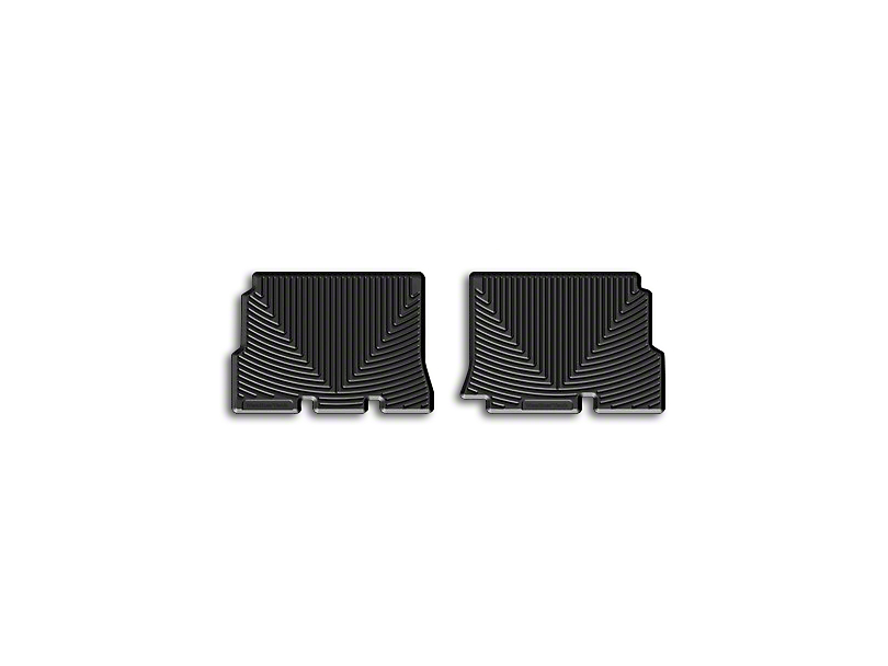 Weathertech All Weather Rear Rubber Floor Mats - Black (14-18 Jeep Wrangler JK 4 Door)