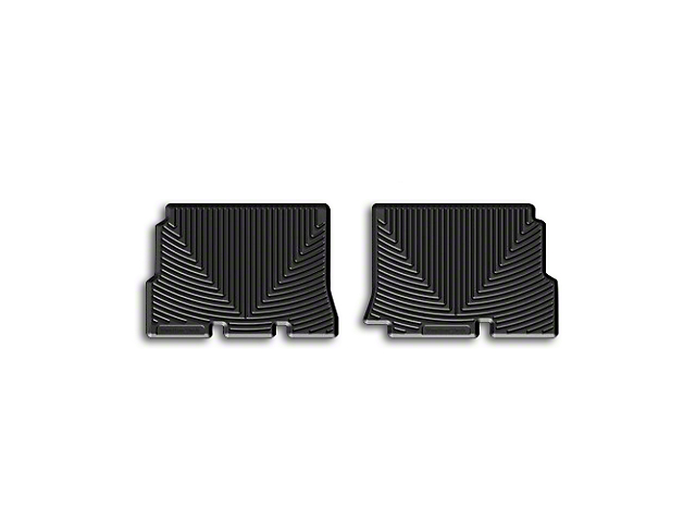 Weathertech All-Weather Rear Rubber Floor Mats; Black (14-18 Jeep Wrangler JK 4 Door)