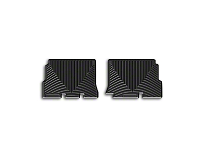 Weathertech All Weather Rear Rubber Floor Mats - Black (14-18 Wrangler JK 4 Door)