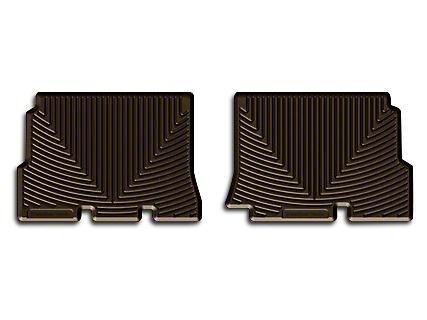 Weathertech All Weather Rear Rubber Floor Mats - Cocoa (14-18 Wrangler JK 4 Door)