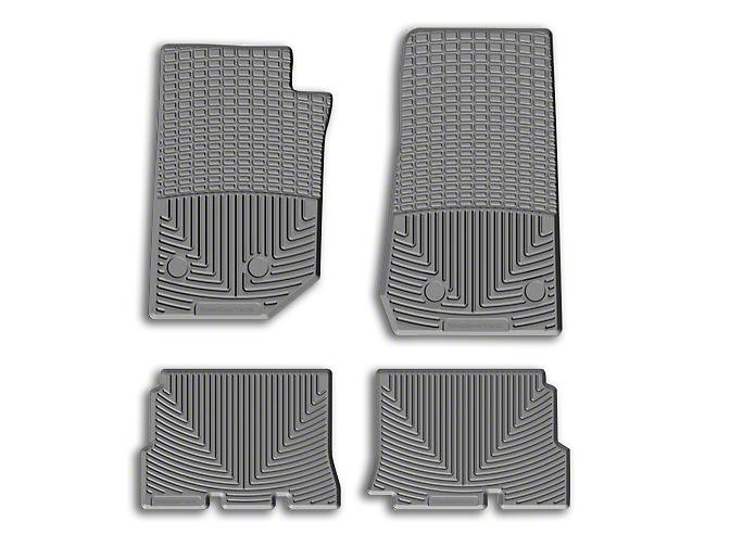 Weathertech All Weather Rear Rubber Floor Mats - Gray (14-18 Jeep Wrangler JK 4 Door)