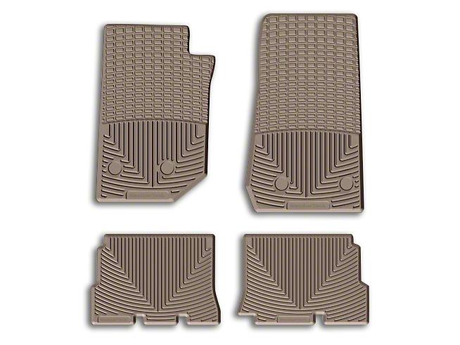 Weathertech All Weather Rear Rubber Floor Mats - Tan (14-18 Jeep Wrangler JK 4 Door)