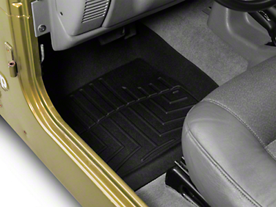 Weathertech DigitalFit Front Floor Liners - Black (97-06 Jeep Wrangler TJ)