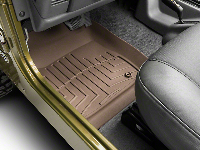 Weathertech DigitalFit Front Floor Liners - Tan (97-06 Jeep Wrangler TJ)