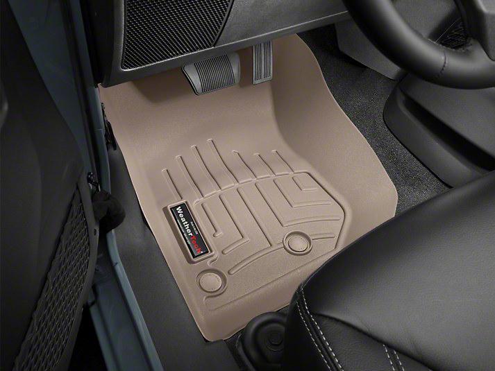 Weathertech DigitalFit Front Floor Liners - Tan (14-18 Jeep Wrangler JK)