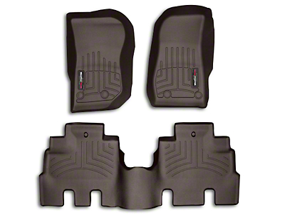 Weathertech DigitalFit Rear Floor Liner - Cocoa (14-18 Jeep Wrangler JK 4 Door)