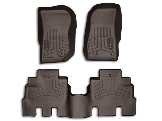 1st /& 2nd Row WeatherTech Custom Fit FloorLiner for Wrangler//Wrangler JK Black