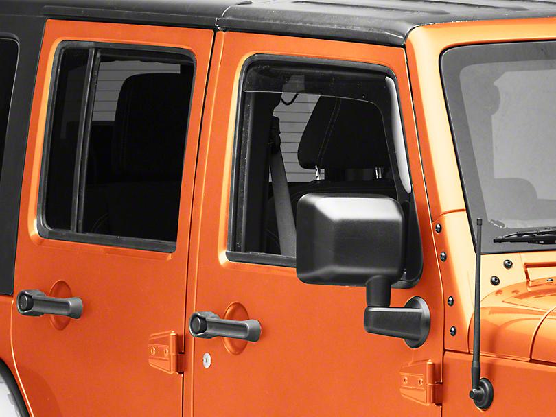 Weathertech Front & Rear Side Window Deflectors - Light Smoke (07-18 Wrangler JK 4 Door)