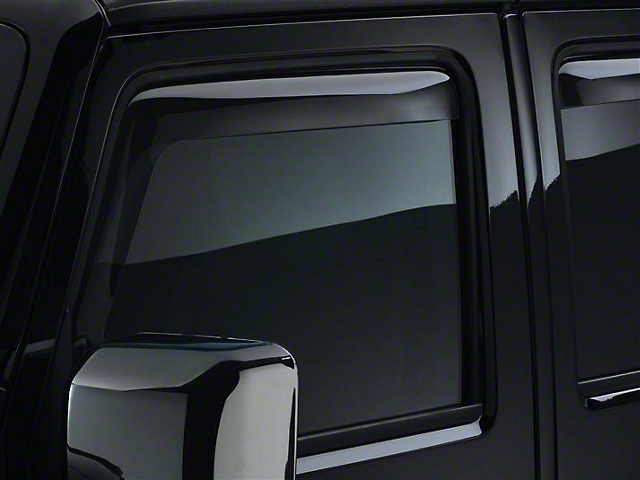 Weathertech Front Side Window Deflectors - Light Smoke (07-18 Jeep Wrangler JK)
