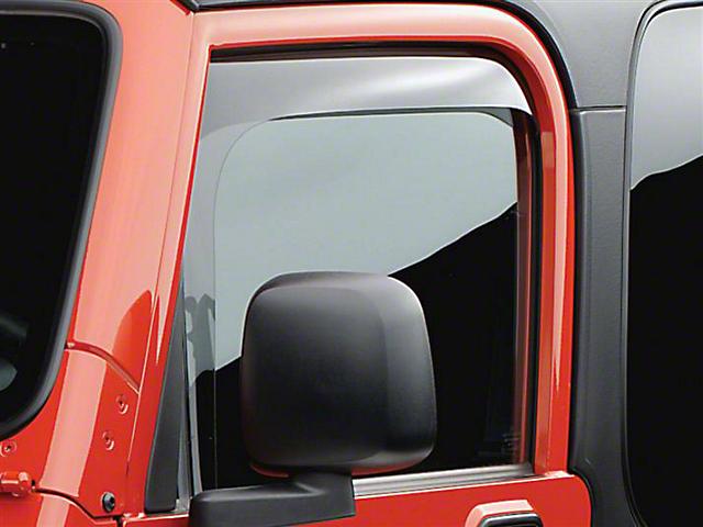 Weathertech Front Side Window Deflectors - Light Smoke (97-06 Jeep Wrangler TJ)