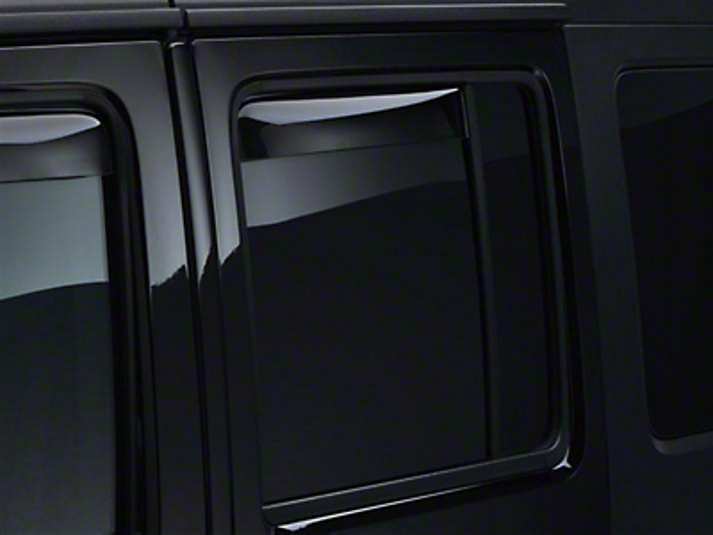 Weathertech Rear Side Window Deflectors - Dark Smoke (07-18 Wrangler JK 4 Door)