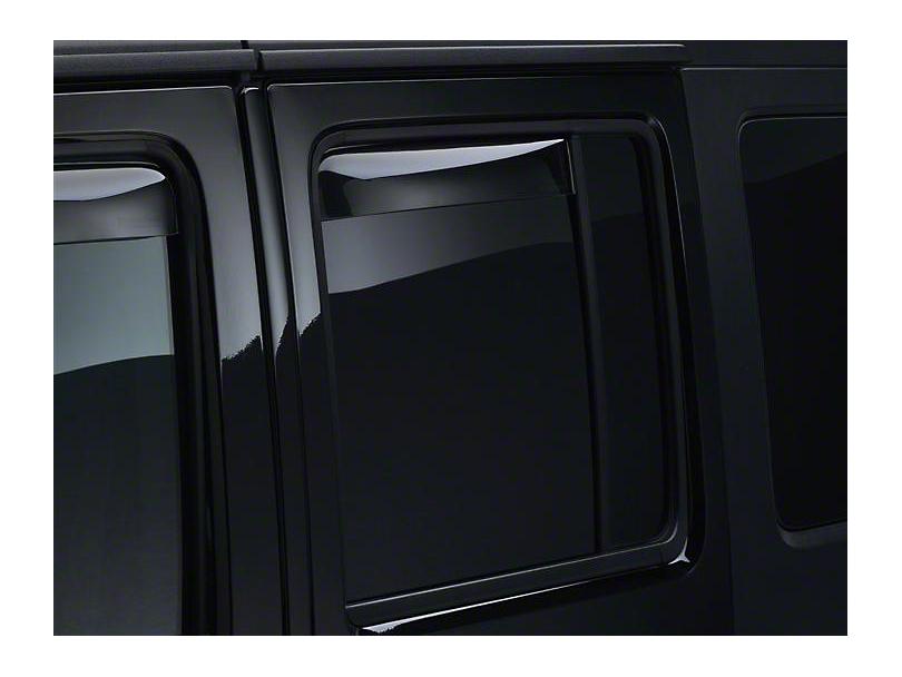 Weathertech Rear Side Window Deflectors - Light Smoke (07-18 Jeep Wrangler JK 4 Door)