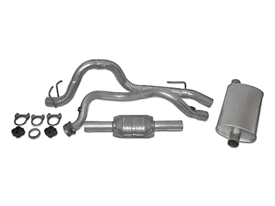 Crown Automotive Complete OEM Exhaust Kit (93-95 4.0L Jeep Wrangler YJ)