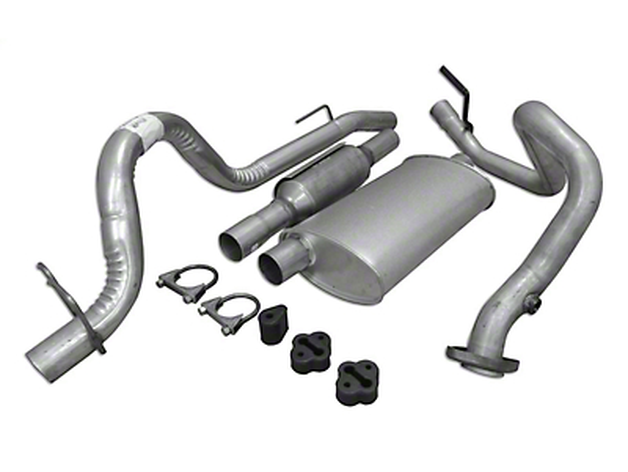 Crown Automotive Complete OEM Exhaust Kit (93-95 2.5L Wrangler YJ)