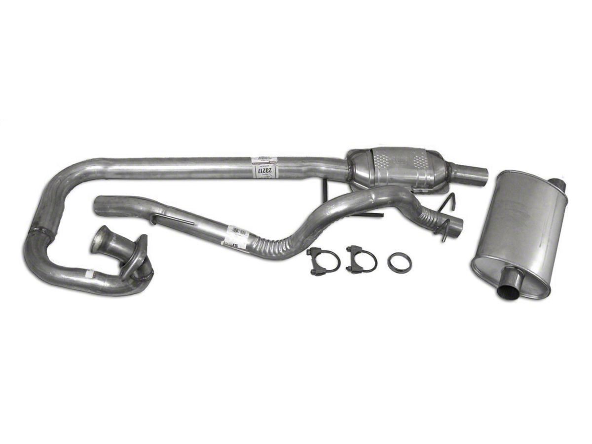 Jeep Wrangler Complete OEM Exhaust Kit (97-99 4 0L Jeep