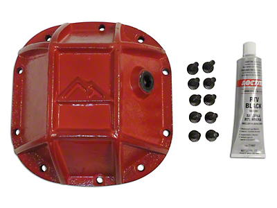 RT Off-Road Dana 30 Front Axle Heavy Duty Front Differential Cover - Red (87-18 Wrangler YJ, TJ & JK)