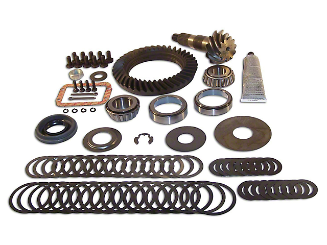 Dana 30 Front Axle Ring and Pinion Gear Kit; 3.73 Gear Ratio (87-95 Jeep Wrangler YJ)