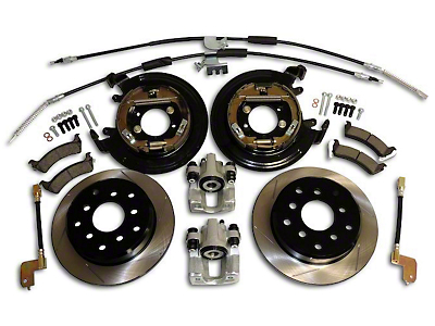 RT Off-Road Dana 35 Rear Axle Disc Brake Conversion Kit w/ Slotted Rotors (97-06 Wrangler TJ w/o ABS)