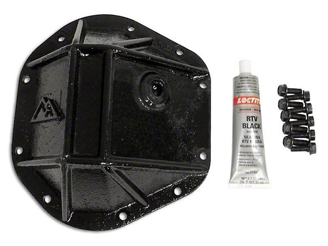 Dana 44 Heavy Duty Differential Cover; Black (87-18 Jeep Wrangler YJ, TJ & JK)