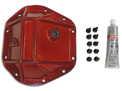 RT Off-Road Dana 44 Heavy Duty Differential Cover - Red (87-18 Wrangler YJ, TJ & JK)