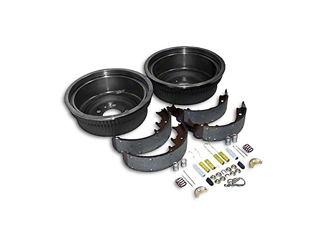 Dana 44 Rear Axle Brake Drum Service Kit (87-90 Jeep Wrangler YJ w/ 10 in. Rear Drums)