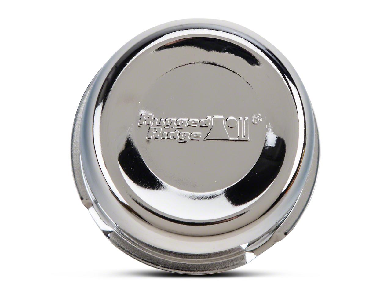 Rugged Ridge 5x4.5 in. Steel Wheel Center Cap - Chrome (87-06 Jeep Wrangler YJ & TJ)