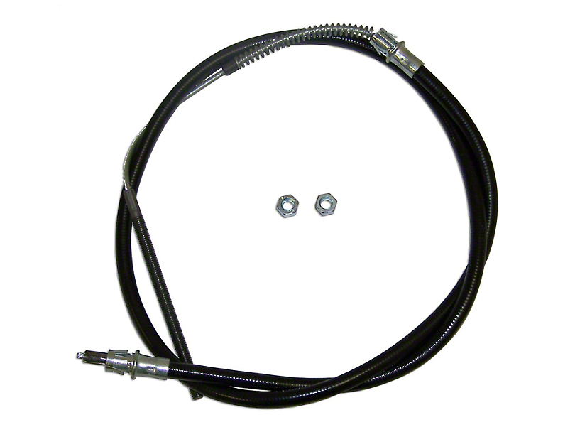 Front Equalizer Emergency Brake Cable - 62 in. (87-90 Jeep Wrangler YJ)