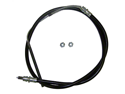 Front Equalizer Emergency Brake Cable - 62 in. (87-90 Wrangler YJ)