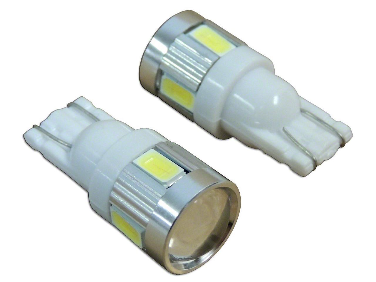 RT Off-Road Front Side Marker Light LED Bulbs - 194 (87-06 Jeep Wrangler YJ & TJ)