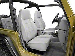 Smittybilt Factory Style Recliner - Charcoal Light Gray Denim (87-02 Jeep Wrangler YJ & TJ)