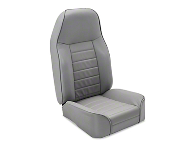 Smittybilt Standard Front Bucket Seat - Light Gray Denim (87-06 Wrangler YJ & TJ)