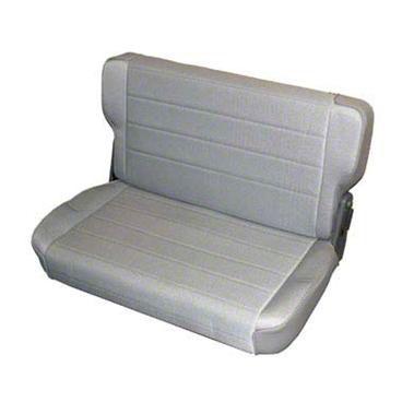 Smittybilt Rear Standard Seat - Charcoal Light Gray Denim (87-95 Jeep Wrangler YJ)