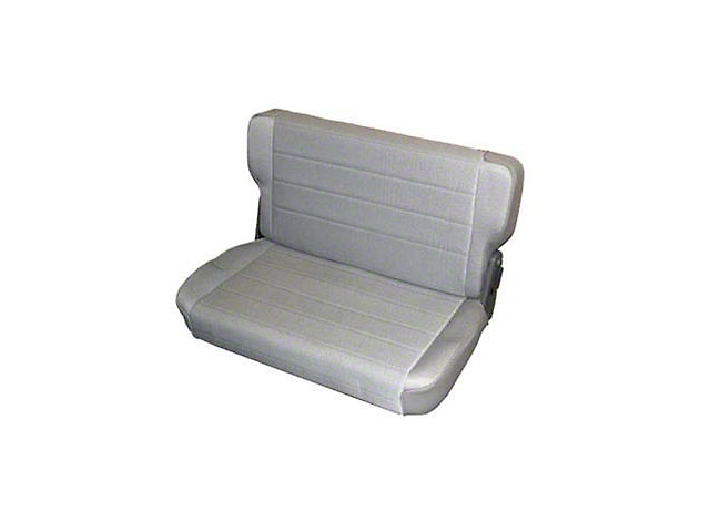 Smittybilt Rear Standard Seat - Charcoal Light Gray Denim (87-95 Jeep Wrangler YJ)
