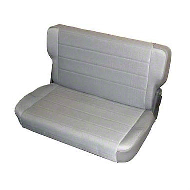 Smittybilt Standard Rear Seat Vinyl - Charcoal Light Gray Denim (87-95 Jeep Wrangler YJ)